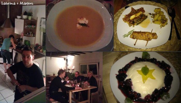 Dinner bei Sabrina und Markus