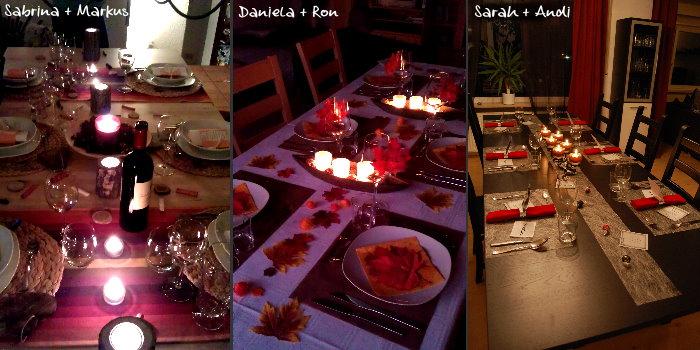 Dinner Tischdeko